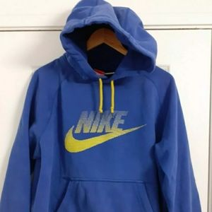 Men Nike Blue Sweatshirt Hoodie Size L